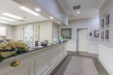 Office interior at Reich Dental Center in Roswell, GA.