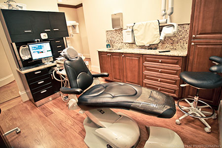 Operatory chair at Reich Dental Center